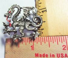 "vintage 'Dragon"" pin collectible old mythological fantasy pinback"