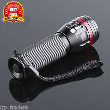 LED Torch 3 Mode Adjustable Focus CREE Clip Zoom Torch LED Flashlight 200 LUMEN