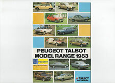 1983 Peugeot Talbot brochure: 104/305/505/604/Samba/Horizon/Alpine/Rancho/Tagora