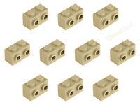 Lego® 5 x SNOT Konverter Stein seitlich 2 Noppen 1x2 beige tan NEU 11211 6024495