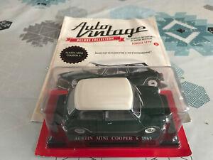 Voiture Miniature Austin Mini Cooper S 1965 Hachette Auto Vintage au 1/24