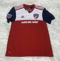 New Adidas 18/19 FC Dallas Home Red White New Soccer Jersey Size 2XL