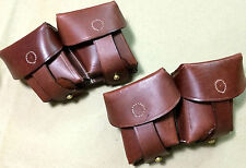 WWI WWII M95 Leather Ammo Pouch Set (Left n Right side) - Reproduction