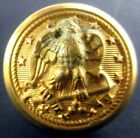 """Old Early Union US Navy Eagle Brass 3/4"""" Uniform Button Domed Unused Hilborn"""