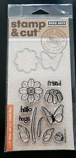 Hero Arts Stamp & Cut Butterfly and Flower Clear Stamps with Dies