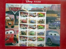 Disney-pixar voitures australien souvenir non montés cachet du jeu de feuilles