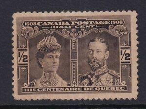 CANADA 1908 MINT #96, QUEBEC TERCENTENARY ISSUE !! D34A