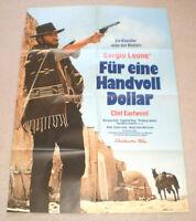 A1 Filmplakat , FÜR EINE HANDVOLL DOLLAR, CLINT EASTWOOD ,SERGIO LEONE, K KINSKI