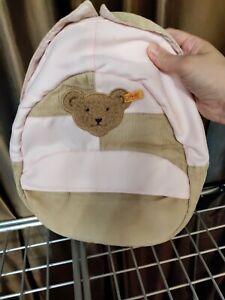 STEIFF pink teddy bear backpack