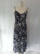 WALLIS SIZE 10 BLACK AND WHITE DRESS ASYMMETRIC HEM