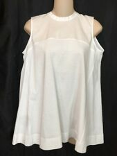 Marni Top White Cotton Baby Doll sleeveless Size S NWT $470