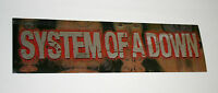 Rare System Of A Down Concert CD Record Release Music Foil Sticker New NOS 2005
