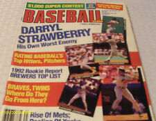 Darryl Strawberry Covers 1992 Baseball Magazine Annual Roger Clemens