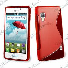 ACCESSORIES SILICONE COVER GEL S FILM RED LG Optimus L5 II E460