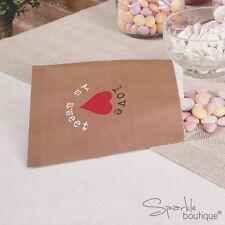 Sacchetti Carta Marrone Dolce x25-vintage wedding favore/regalo/Candy Bar/TESORO BUFFET