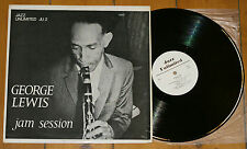 GEORGE LEWIS JAM SESSION UK LP JAZZ UNLIMITED JU 2 RECORDED IN NEW ORLEAN 1950
