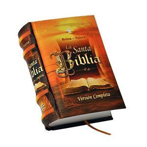 new La Santa Biblia Miniature Book in Spanish Complete Version Reina Valera  HC