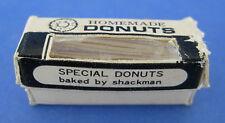 Dollhouse Miniature Shackman Homemade Donuts Box Opens Blue White Vintage
