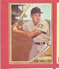 Harmon Killebrew 1962 Topps - Minnesota Twins - # 70  VG-EX-  HOF *BG0508
