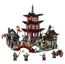 737pcs Diy Ninja Temple Of Airjitzu Ninjagoes Building Blocks Set Toy For Kids
