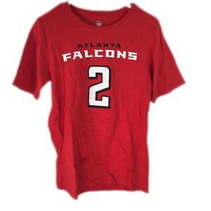 NFL Team Apparel Youth Atlanta Falcons Matt Ryan 2 Red T-Shirt Size L(14/16)