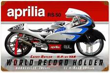 Aprilia RS 50 Butler Vintage Metal Motorcycle Racing Sign Wall Decor FRC084
