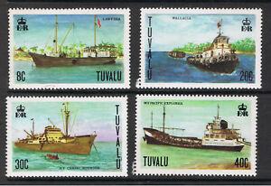 TUVALU 1978 SHIPS & WILD FLOWERS