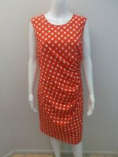 COUNTRY ROAD RED/WHITE PRINT DRESS SIZE 14  (#D349)