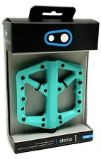 Crank Brothers Stamp 1 Platform Pedals, Turquoise, Large