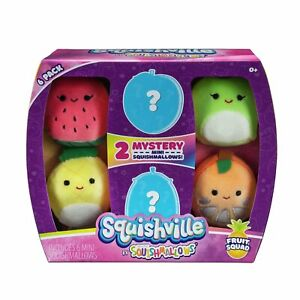 Squishville Mini Squishmallow 6 Pack Assortment 2-inch size cute play soft toys