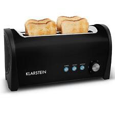 Retro Langschlitz Toaster Toastautomat 4 Scheiben Zweischlitz Brötchenaufsatz
