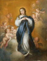 Vintage Immaculate Conception print on Paper or Canvas Giclee