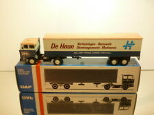 LION CAR 59 DAF 2800 + TRAILER de HAAN REMOVALS  - 1:50 VERY RARE - VERY GOOD IB