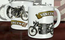Vincent Black Shadow Collectors Mug Vintage 1950s British Motorcycle Rocker Cup