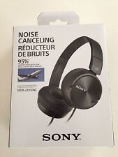 Sony MDR-ZX110NC Noise-Canceling Over-Ear Headphones MDRZX110NC Black - New