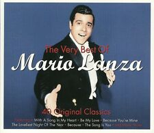THE VERY BEST OF MARIO LANZA 40 CLASSICS Inc BE MY LOVE,BECAUSE, VALENCIA & MORE