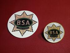 BSA GOLD STAR   GOLD PLATED BADGE  +   BSA GOLD STAR PHONE STICKER