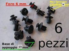 VITI Fermi Rivetti plastica A VITE X CODONI CARENE 6 mm  6 pz