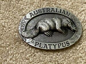 GAP 1994 Pewter Australian Platypus belt buckle