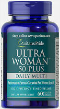 4 Multivitamins and Minerals Ultra Woman 50 Plus Daily Multi. 60 Caplets USA