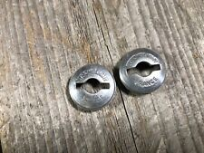 STRONGLIGHT CRANK CAPS CRANKSET DUST CAPS MADE IN FRANCE VINTAGE ROAD BIKE NOS