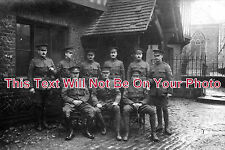 HF 159 - Inns Of Court OTC, Sgts At Court House, Berkhamstead Hertfordshire 1915