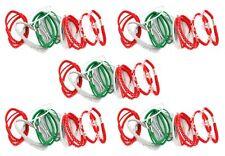 Zest 100 bandas de Cabello Pelo Elásticos De Copos De Nieve Navidad Rojo Verde Blanco Y Plata