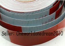 "Reflective Conspicuity Tape White Red Total 7.5m = 25' CCC=DOT-C2 25pcs 2"" Wide"