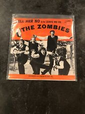 THE ZOMBIES-Tell Her No. Rock Hall Of Fame w/Picture Sleeve-PARROT #45-9723 Vg+