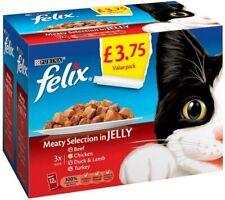 Felix Meaty Selection in Jelly Beef, Chicken, Duck & Lamb, Turkey 4 x 12 x 100g