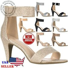 900c98321 NEW Women Ankle Strap Open Toe Comfortable High Heels Dress Party Heeled  Sandals
