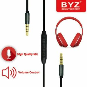 Wholesale 12 Pack BYZ BC-003 Audio Cable Replacement for Beats By Dr Dre Aux Mic