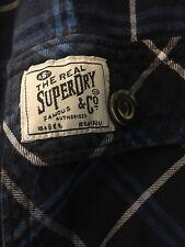 Superdry shirt checkered blue
