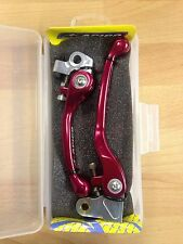HONDA   CRF150 R   CRF 150 R     2007-2017   FLEXI FLEXIBLE LEVER LEVERS SET RED